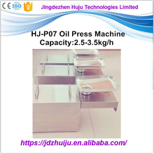 Top Quality Automatic 3kg/h mini groundnut oil presser machine with stainless steel gear HJ-P07