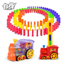 Wholesale children plastic brick mesas domino rally toy with car