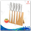 Universal bamboo magnetic knife block