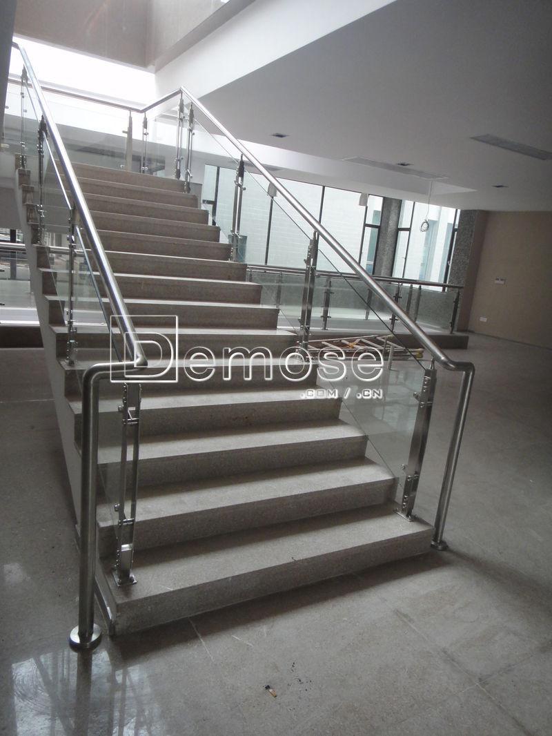 Indoor glass stair railing kits view indoor glass railing for Indoor glass railing