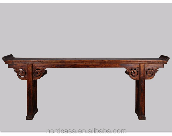 Chinese antique style wooden carved altar table