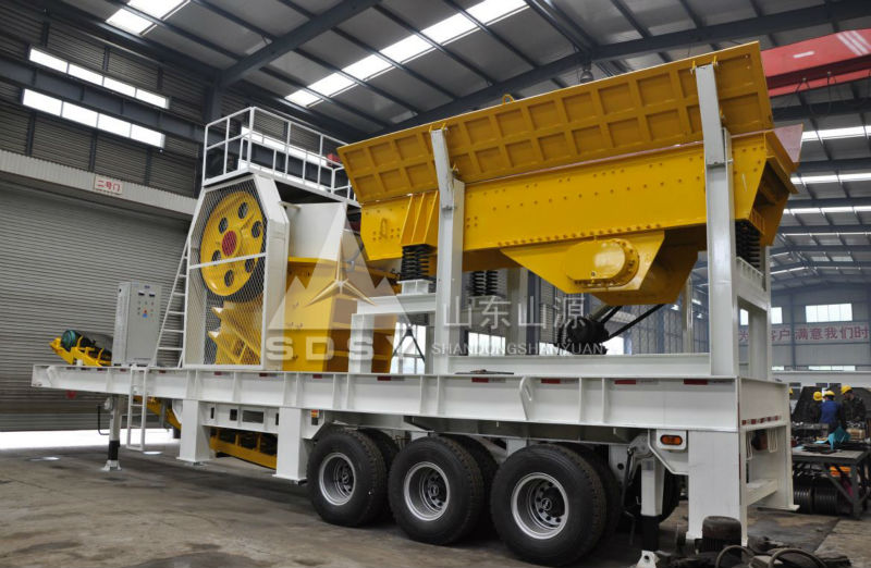 Mobile crushing plant price, easy maintenance and installation, large capacity