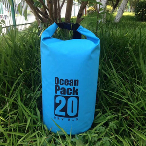 500D PVC Tarpaulin 20L Custom Logo Waterproof Dry Bag Backpack With Double Strapsroof For Outdoor Sports