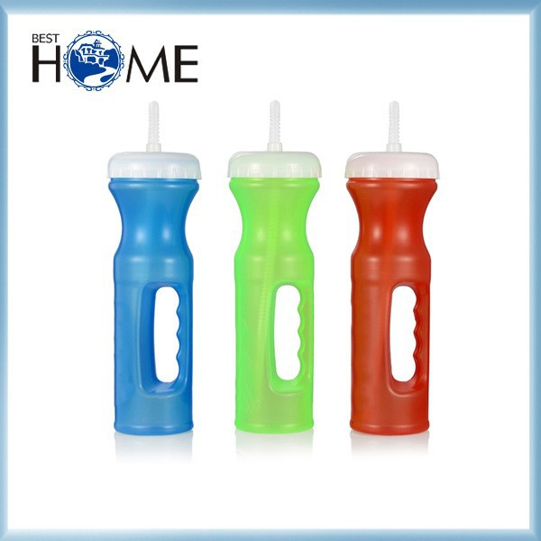 800ML New Product PE Plastic Fruit Sports Water Bottle With Straw