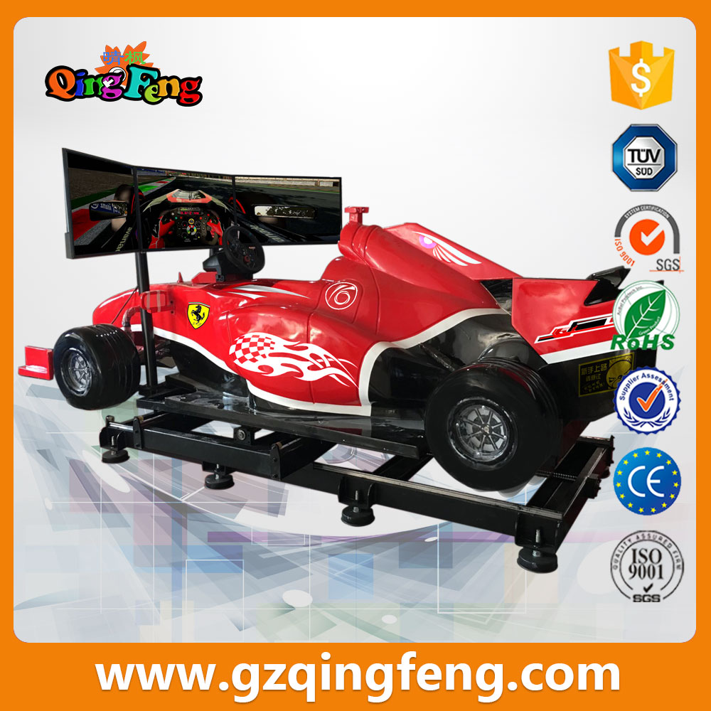 F1 Car Driving Simulator With 3 Screens Interactive driving game