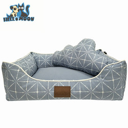 Wholesale Eco-friendly Dirt-Proof Elegant Deluxe Bolster Chew Proof Soft Washable Large Sofa Luxury Princess Large Pet Dog Bed