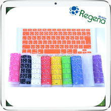 colorful wholesale silicon soft cover keyboard protector for macbook air keyboard japanese version