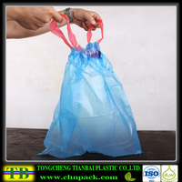 disposable best selling drawstrig garbage bag pe drawstring bag