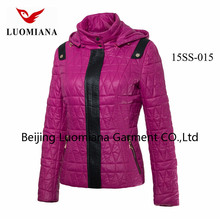 Short Women down/feather jacket Luomiana OEM servise microfleece jacket