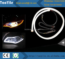 Car Auto Led Tear Eye With Two Colors Flexible Led Running Light Angle Eye Led Light