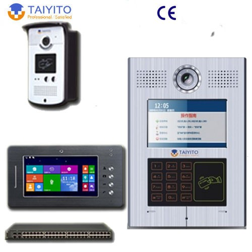 multi apartment video intercom system for doorphone system view video