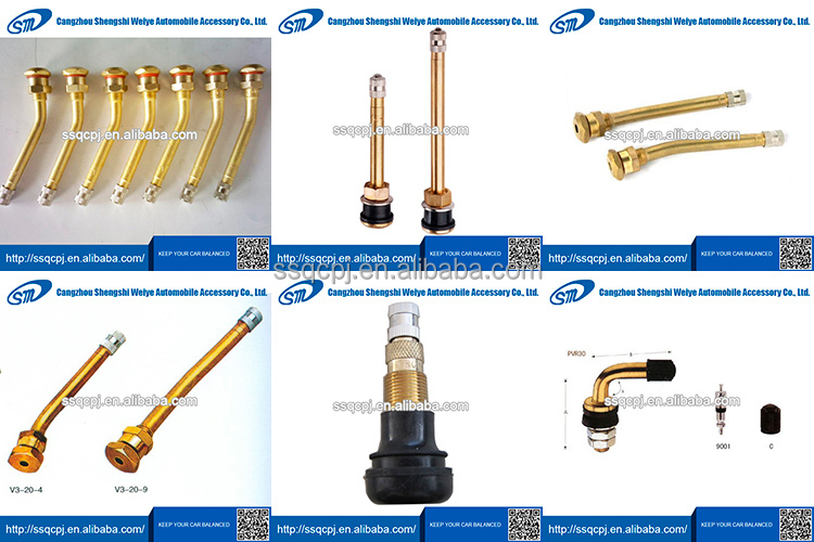 tubeless snap-in tire valve/gold valve stem
