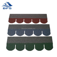 easy install Color Stone Chip Coated New Design fish scale shape shingles