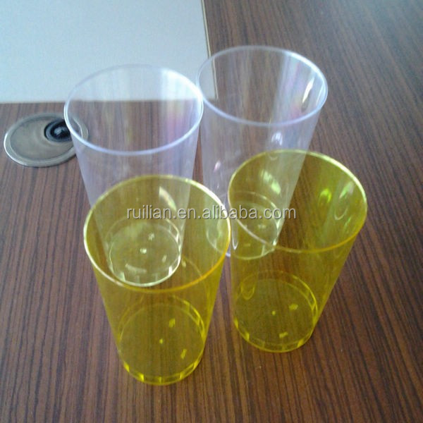 12 OZ Disposable Colorful Drinking Plastic Cups/Disposable Clear Champagne Glasses/Neon Color Disposable Party Tumblers