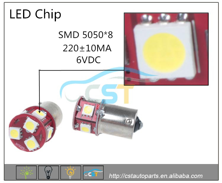 2016 New Product led light CE RoHS FCC PSE Certification long lifetime s25/1156/1157 5050 8SMD used cars for sale AUTO LED