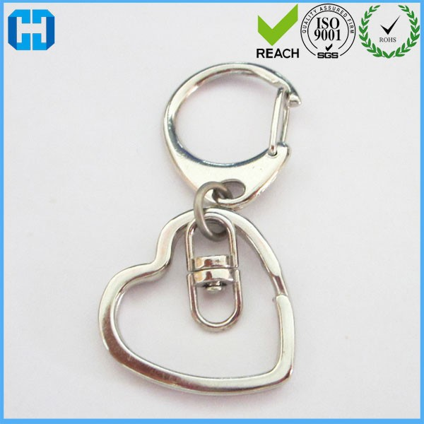 Unique Design Chrome Plated Metal Keychain Key Ring Bag Charm Accessories