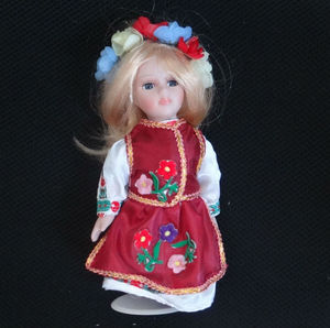 Customized American 8 inch Porcelain Doll