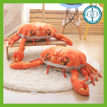 Wholesale high quality printing plush stuffed crab pillow cushion
