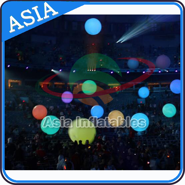 Inflatable PVC LED Light Party Crowd Ball / Lighting Inflatable Concert Balloon with Remote Control / Inflatable Zygote Balls