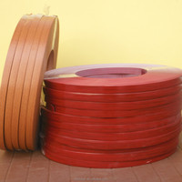 0.6mm thickness red oak wood grain pvc edge banding tape for furniture using