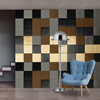Restaurant Decor Wallart Leather Flat Square Tile Wall Panel