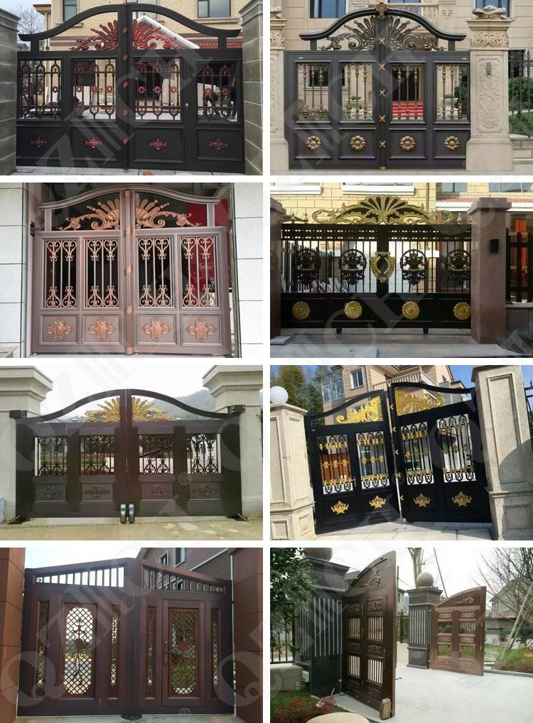 casting aluminum main gate door design for luxury villa
