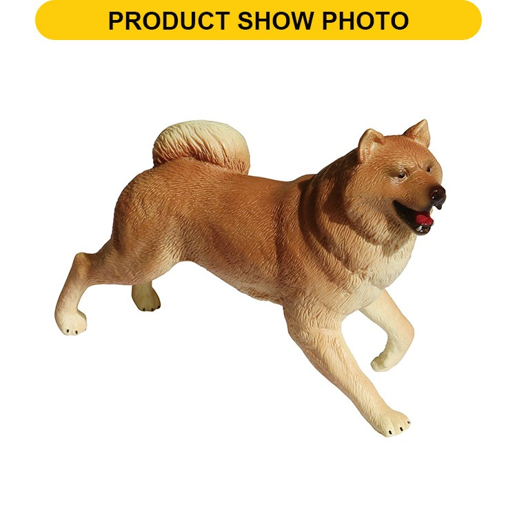 New design 8inch plastic dog feature decorative toy animal