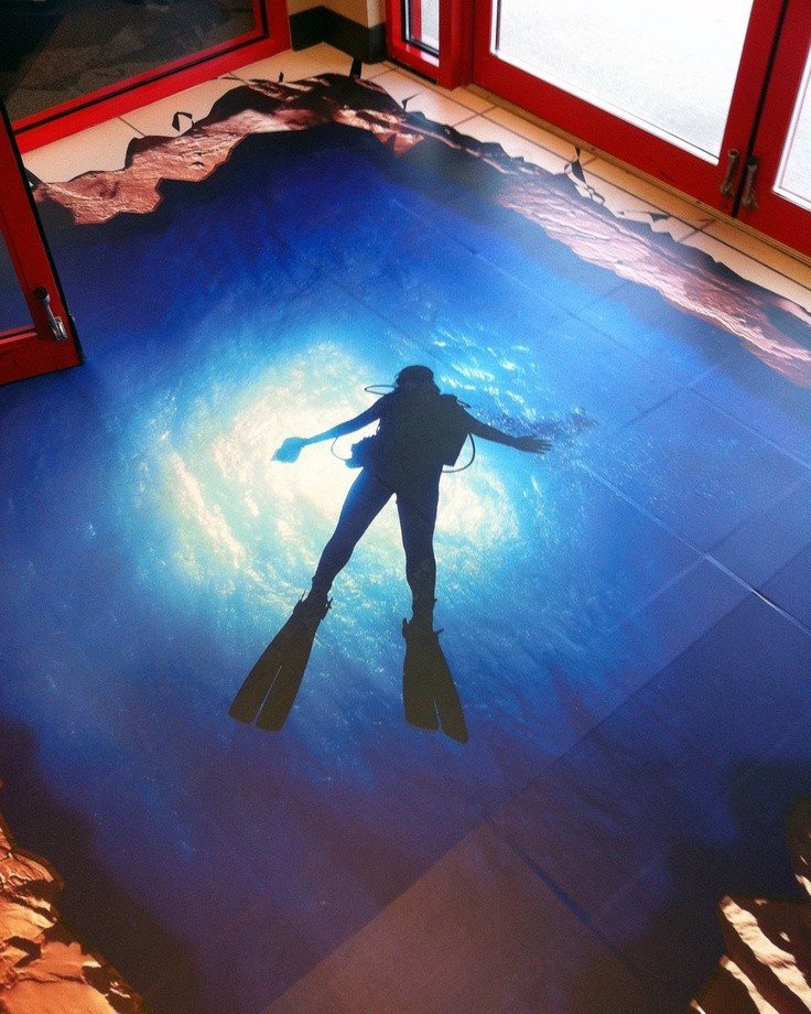 3d pvc floor graphics