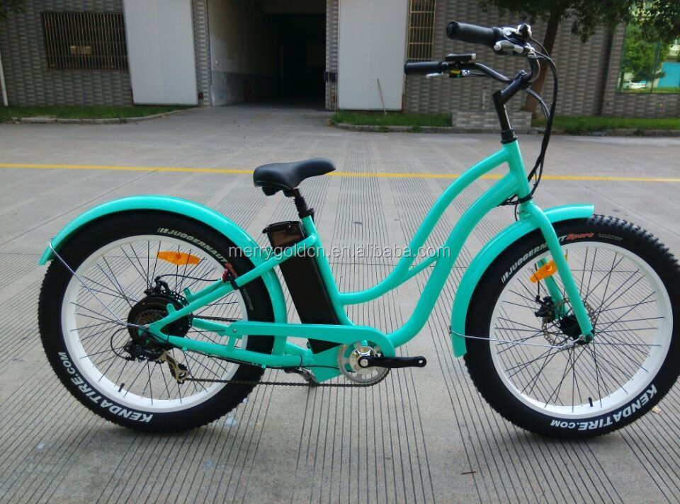 2016 new women's fat tires electric bikes with step through frame and 500W power engine