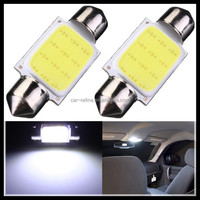 High Quality 36mm Festoon COB 12 Chips DC 12V LED Car Dome Reading Lights Auto Interior Lamps Super Bright Bulbs Power