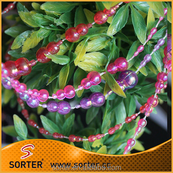 plastic beaded chain for <strong>Christmas</strong> hanging decoration