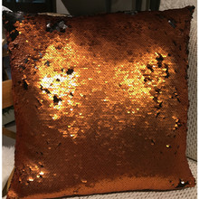 Latest Design Double Color Glitter Reversible Sequin Magic Sofa Mermaid Cushion Pillow Cover