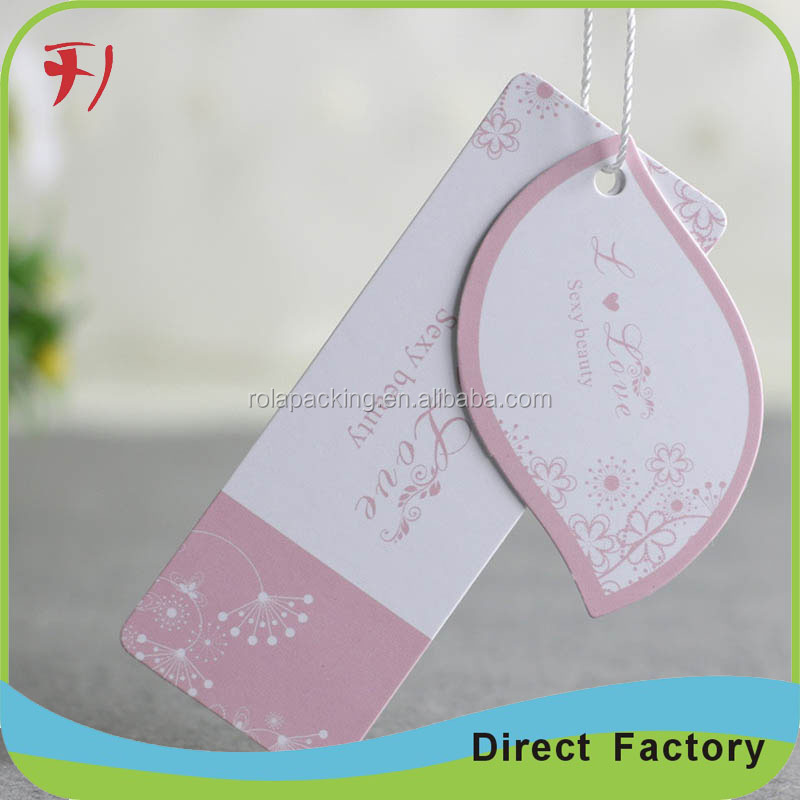 Pretty paper board tags/art paper tags/name tags for clothing in China