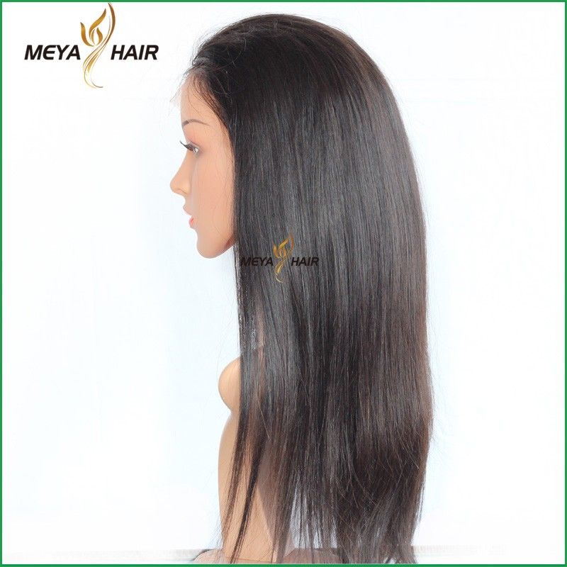 Top Quality Indian Virgin Remy Cheap Full Lace Wigs with Baby Hair, Indian Remy Gray Hair Full Lace Wig, Baby Hair Wigs