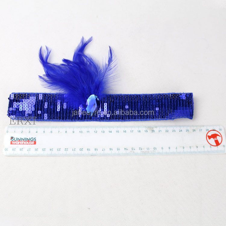 Christmas/Halloween/Party Costume Blue Feather Sequin Headpiece Headband