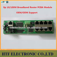 Full Customized ODM Mulitmedia cabinet 9p 10/100M PPPoE Network NAT Broadband Lay2 PCBA Module wired Routers