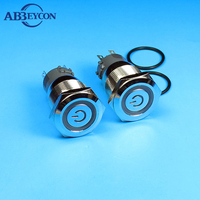 19mm ring illuminated metal push button switch with RGB three colors
