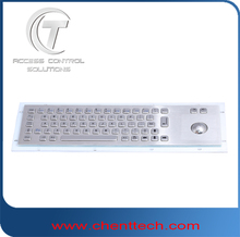 IP65 waterproof rugged nuermic metal keyboard with mouse/trackball