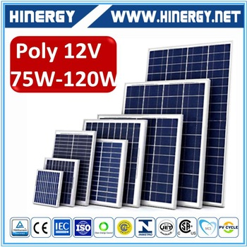 China supplier rv solar panel of 120w cost 90 watt polycrystalline solar panel stock