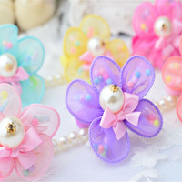 Hot new best selling product wholesale alibaba handmade large flower hair baby fancy girls clips made in China PEB-1018