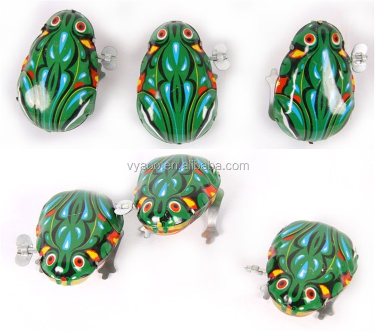 Wholesale Classic Fashion Green Jumping Frog Metal Toy For Children