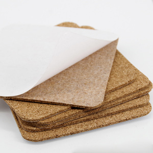 3mm Bulletin Message Borad Cork Sheet Roll Cork Board with Glue for Decoration