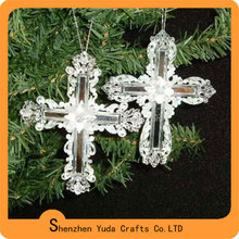 Shenzhen advanced holiday gift clear christmas cross decoration