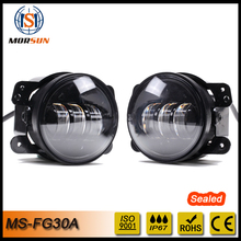 New Arrival, 4inch 30W 2800LM LED Jeep fog light with or without halo DRL for JK