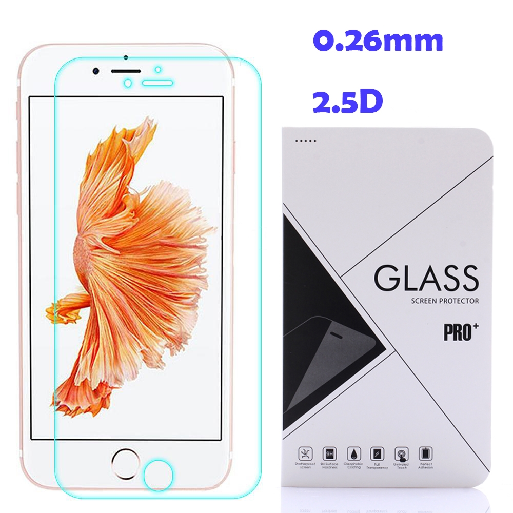 Ultra Slim 9H 0.26mm 2.5D Tempered Glass Screen Protector for iPhone 7 ,7 Plus