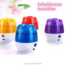 mini usb rose shape skin care electric ultrasonic humidifier cool mist diffuser air humidifier