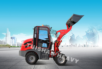 4 wheel drive diesel engine hydrostatic transmission front end mini wheel loader made in china for sale