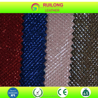 Pu glitter leather fabric for shoe making