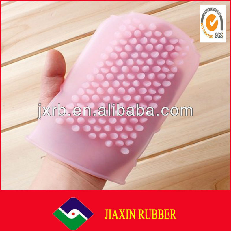innovative and practical household silicone exfoliating gloves bath mitt