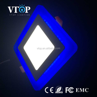 two color white and blue/red/green 6 watt cct led panel